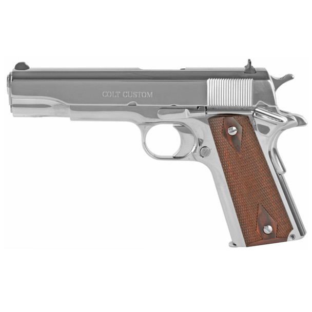 COLT 1911 Government .45 ACP 5in 7rd Bright Stainless Semi-Automatic Pistol (O1070BSTS)