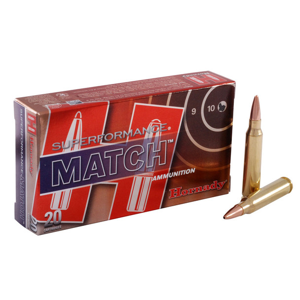 HORNADY Superformance Match .223 Rem 75Gr BTHP 20Rd Box Ammo (80264)