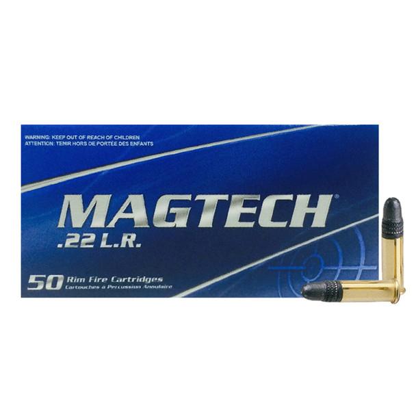 MAGTECH 22 LR 40gr Standard Velocity Lead Round Nose 50rd Box Rimfire Ammo (10000111)
