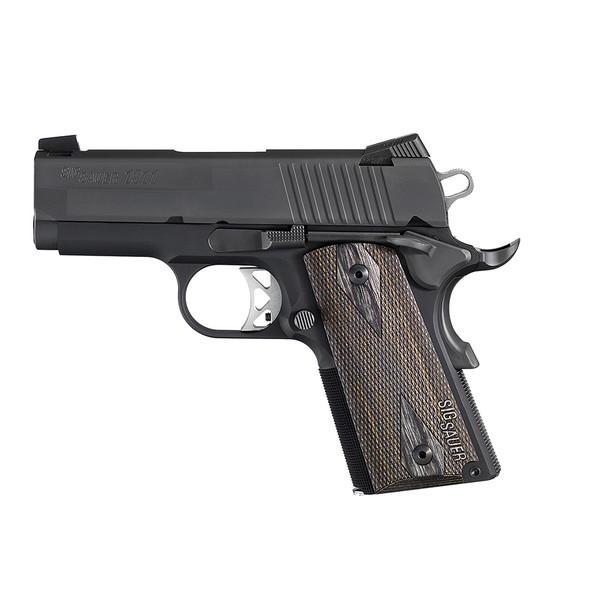 SIG SAUER 1911 Black Nitron 3.3in 45 ACP 7rd Pistol (1911U-45-BSS)