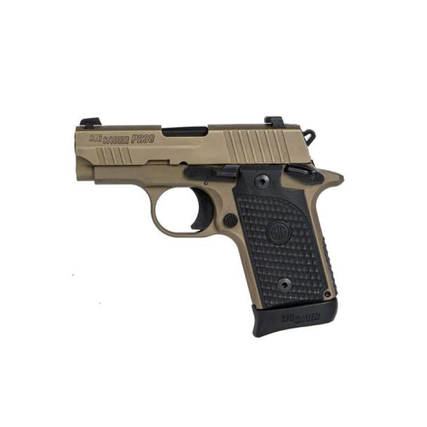 SIG SAUER P238 Emperor Scorpion Micro-Compact .380 ACP 2.7in 1x6rd 1x7rd FDE Semi-Automatic Pistol (238-380-ESCPN)