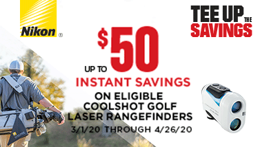 savings on Nikon Coolshot Golf Laser Rangefinders