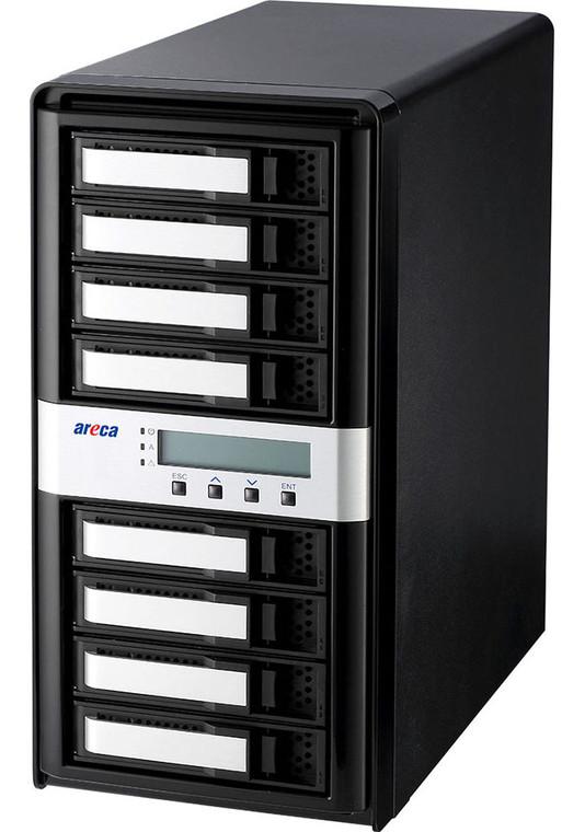Areca ARC-8050T3-8 (8 Bay Thunderbolt 3 to 12Gb/s SAS RAID Storage)