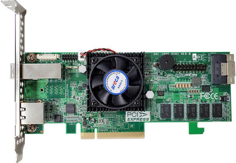 Areca ARC-1886-4X12I (12 Port PCIe Gen 4.0 Tri-Mode RAID Adapter)