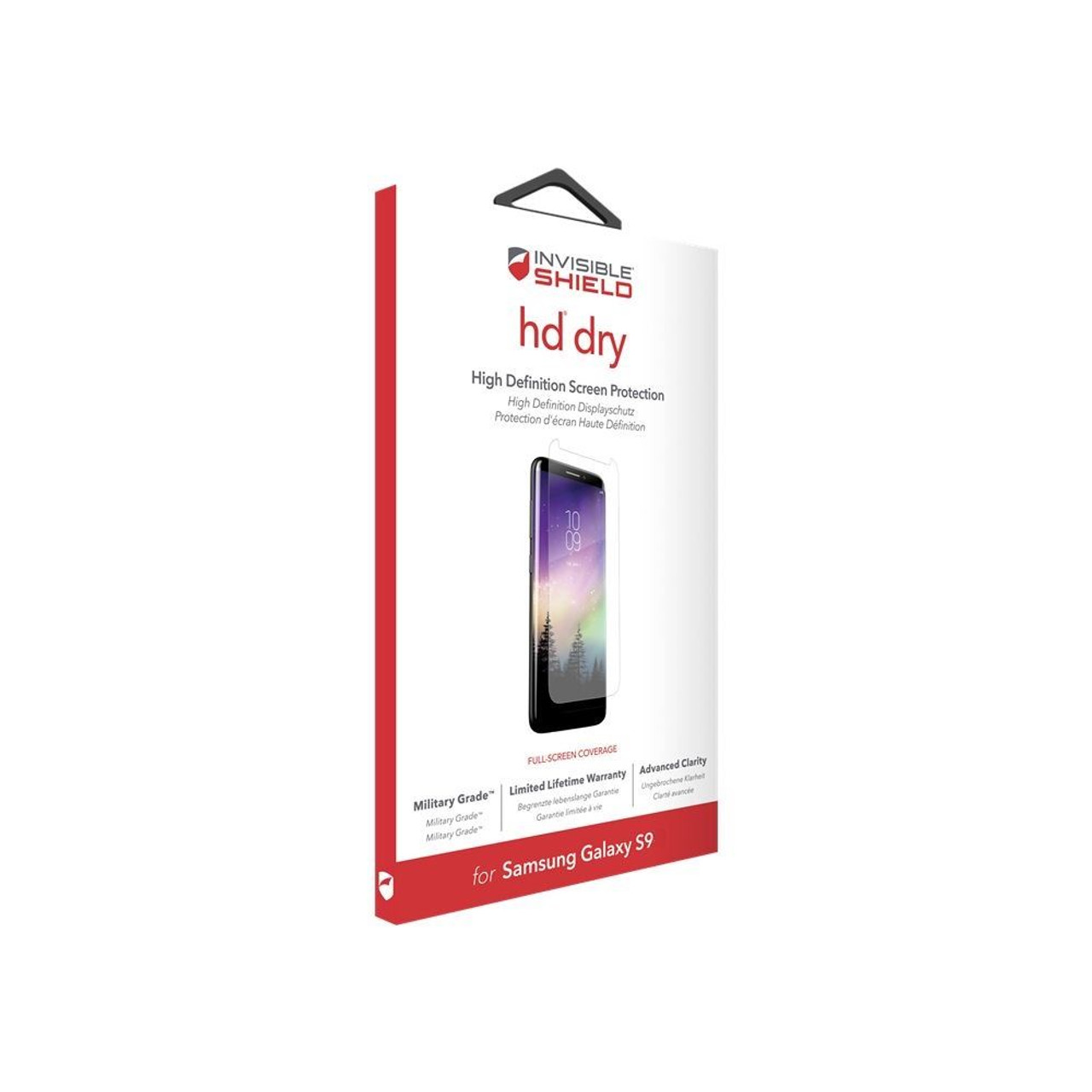 Zagg Invisibleshield Hd Dry Clear Screen Protector Guard For Samsung Galaxy S9