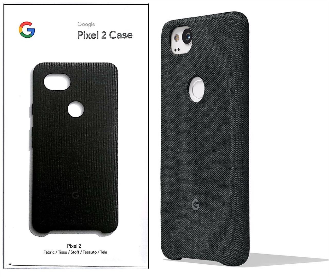 best sneakers ac574 13adb Official Google Pixel 2 Fabric Case Cover - Carbon (GA00159)