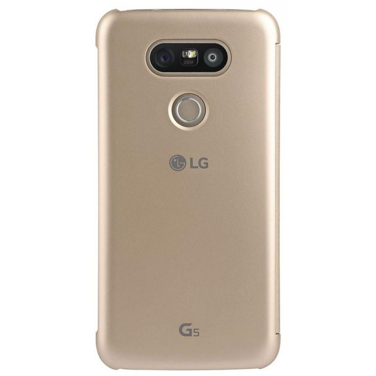 newest 6b439 9b6ef Genuine LG Mesh Folio View Cover Case for LG G5 - Gold