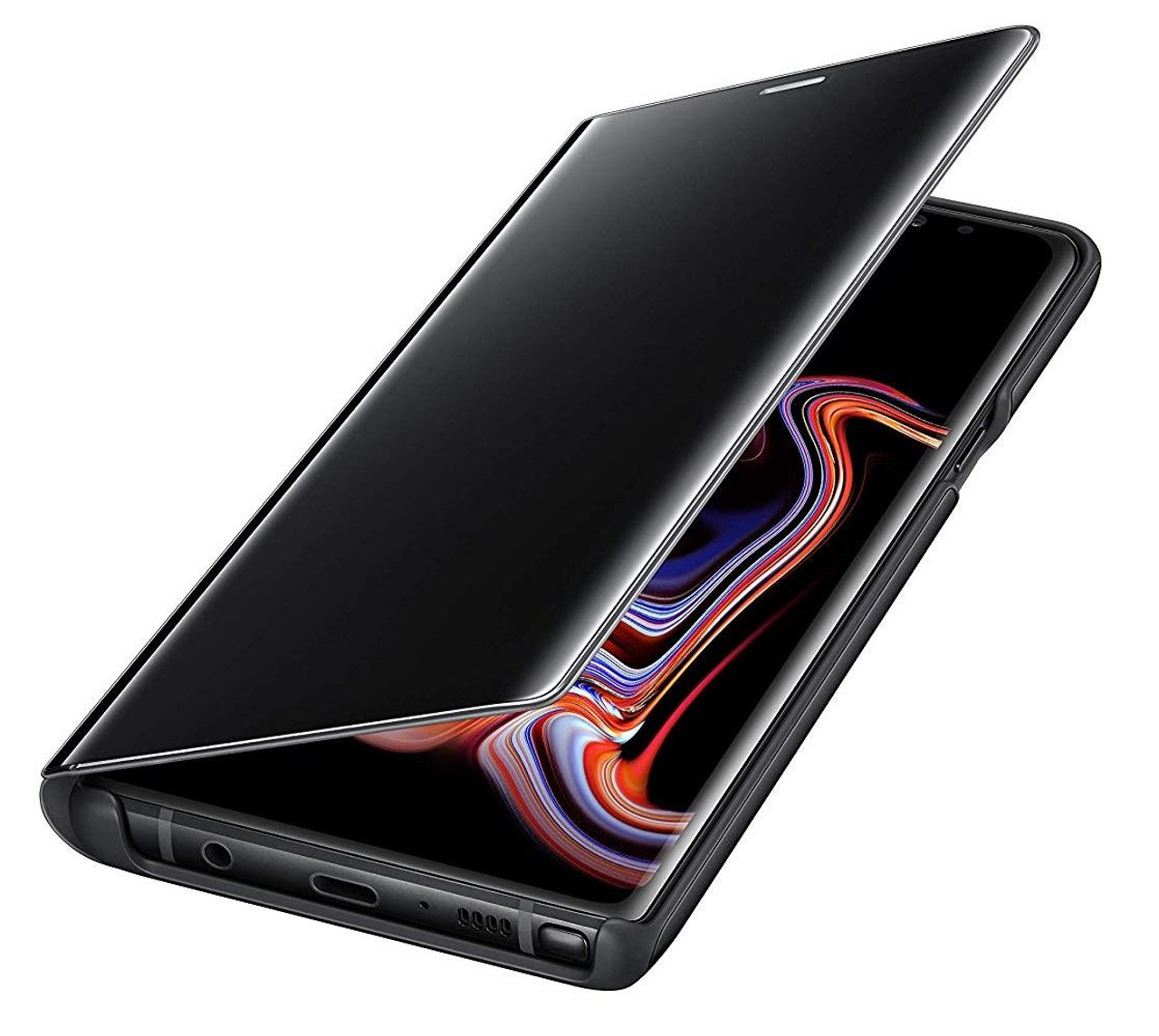 huge selection of f3b01 25f8e New Genuine Samsung Galaxy Note 9 Black Clear View Flip Case Cover Wallet  Stand