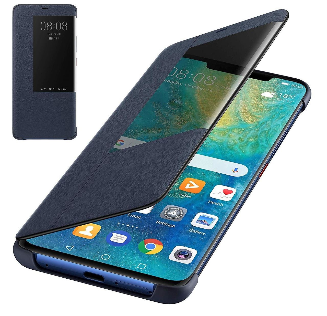 lowest price dfef5 fb394 Official Huawei Mate 20 Pro Smart View Flip Cover - Blue - 51992624