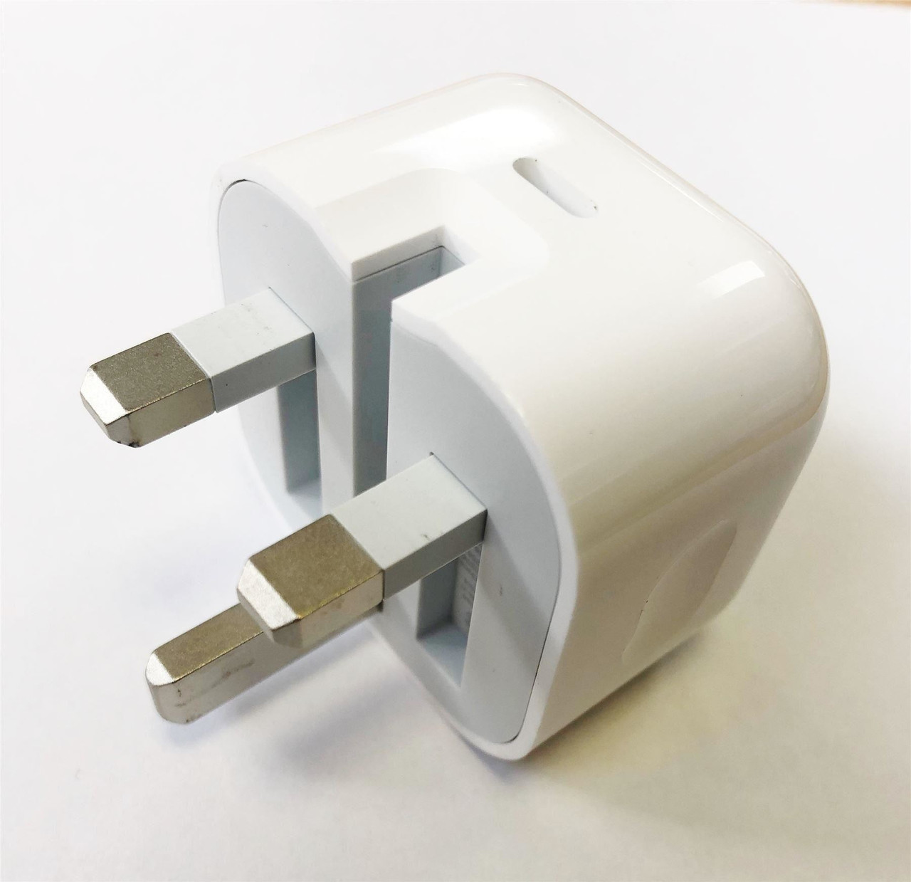 Official Apple A1696 MU7W2BA 18W UK 3 Pin USB Type C Charger Head Plug Power Adapter for iPad Pro (USB C) with USB C to Lightning Charge Cable (1m)