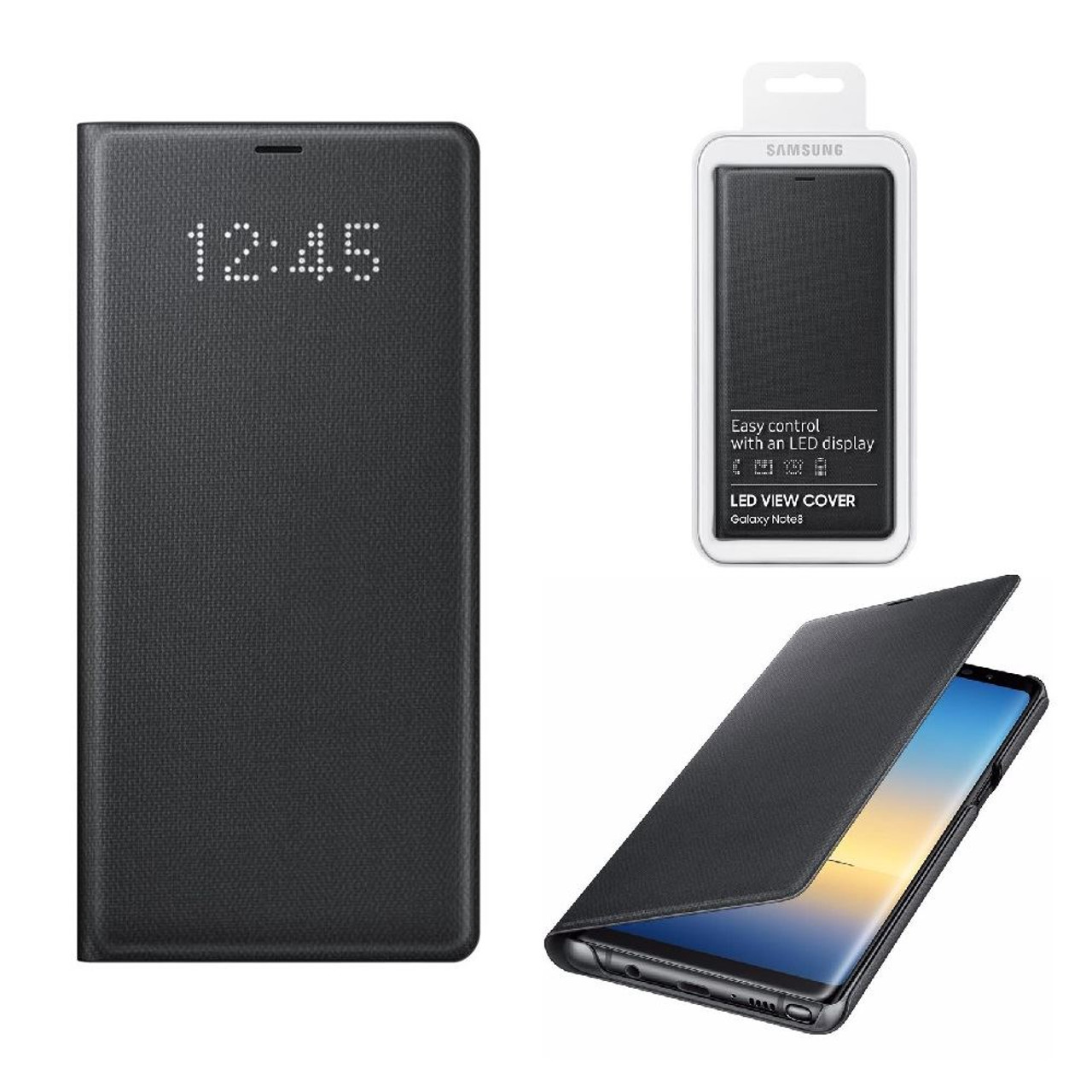 buy popular ccd29 65fb3 Official Samsung Black LED View Cover for Samsung Galaxy Note 8  (EF-NN950PBEG)