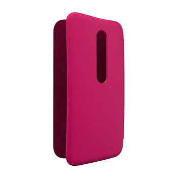 Genuine Official Motorola Original Moto G 3rd Generation Flip Shell - Raspberry
