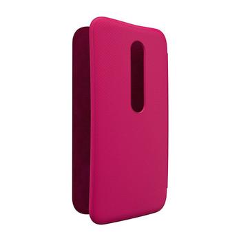 Genuine Official Motorola Original Moto G 3rd Generation Flip Shell - Raspberry