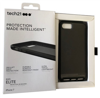 Genuine Official Tech21 Evo Elite Case Impact Cover for iPhone 7 / iPhone 8 - Brushed