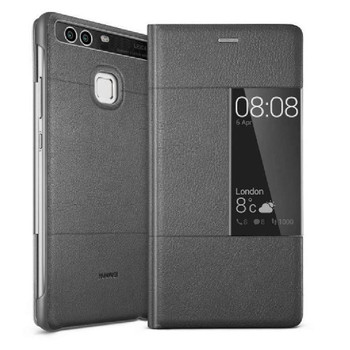 Official Huawei Smart View Flip Cover Case for Huawei P9 - Dark Grey