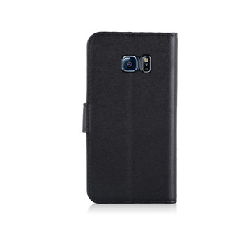 InventCase Leather Flip Case Wallet for Samsung Galaxy S7 - Black