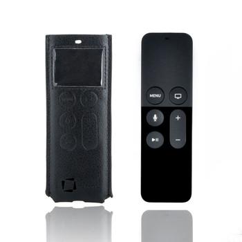 InventCase Leather Case Pouch for Apple TV Siri Remote (4th Gen/4K) - Black