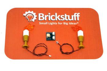 Brickstuff Flickering Candle LED Lights 2-Pack - QK11