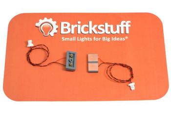 Brickstuff Vertical Power Connectors (2-Pin) - 1 Set - BRANCH-2PINV