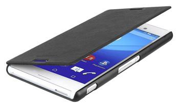Roxfit Folio Book Case Flip Cover for Sony Xperia M4 Aqua - Black