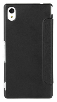 Roxfit Folio Book Case Flip Cover for Sony Xperia M4 Aqua - Black