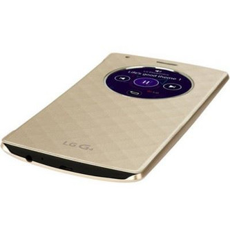 Genuine LG QuickCircle Wireless Charging Qi Back Case - LG G4 Gold CFR-100