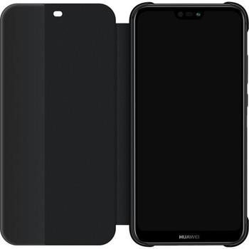 Genuine Huawei P20 Lite Smart View Flip Cover Wallet Sleep Wake Feature - Black