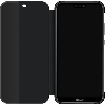 Genuine Huawei P20 Lite Smart View Flip Cover Wallet Sleep Wake Feature - Black