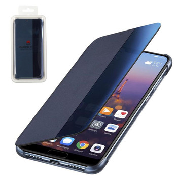 Genuine Huawei P20 Pro Blue Smart View Flip Cover Wallet & Sleep Wake Feature