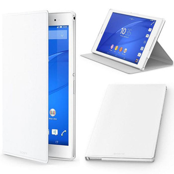 Official Genuine Sony SCR28 Style Cover Stand Case for Xperia Z3 Tablet Compact - White