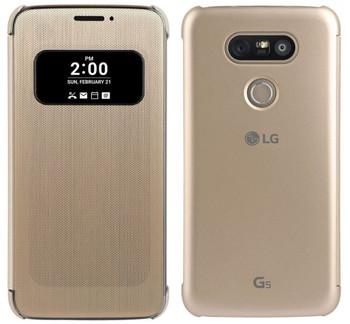 Genuine LG Mesh Folio View Cover Case for LG G5 - Gold