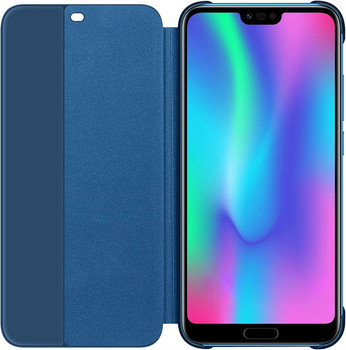 Genuine Honor 10 Smart View Flip Cover Wallet with Sleep Wake Feature - Blue