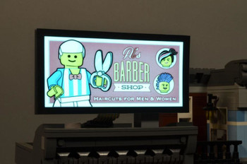 Brickstuff Brickville Barber Shop Animated Billboard  - KIT23-BS