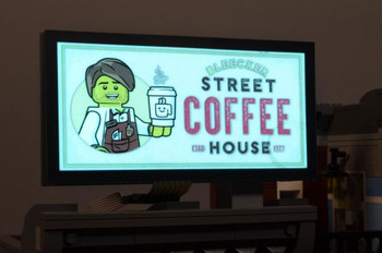 Brickstuff Bleecker Street Coffee House Animated Billboard - KIT23-CH