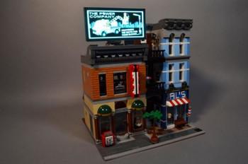 Brickstuff Brickville Power Company Animated Billboard - KIT23-PC