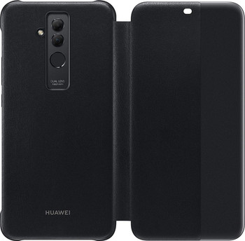 Official Huawei Mate 20 lite Smart View Flip Cover Case - Black - 51992653