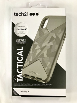 Genuine Official Tech21 Evo Tactical Case Cover for iPhone X/XS - Black - T21-5858