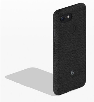 Official Google Pixel 3 Fabric Case Cover - Carbon (GA00486)
