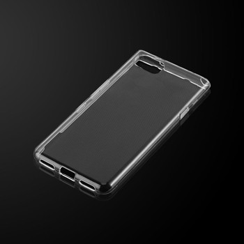 InventCase Premium TPU Gel Case Cover Skin for the BlackBerry KEYone / BlackBerry KEYone Limited Edition Black 2017 - 100% Transparent / Clear