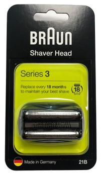 Braun 21B Series 3 Electric Shaver Replacement Cassette Cartridge Foil - Black