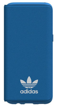 Adidas Originals TPU Flip Booklet Case Cover with Card Holder for Samsung Galaxy S8 - Bluebird / White