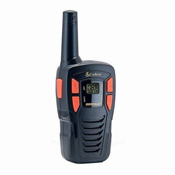 Cobra AM245 Lightweight Walkie Talkie with up to 5Km Range, Power Saving Function and includes Rechargeable Batteries (2 Pack) - Black