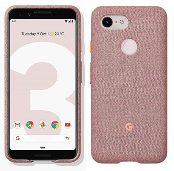 Official Google Pixel 3 Fabric Case Cover - Pink Moon (GA00492)