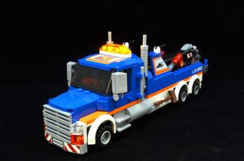 Brickstuff 4-Wide Universal Lightbar with 12 Lighting Patterns (Orange Transparent Parts) - QK12