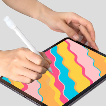 InventCase Silicone Protective Grip Case Cover for Apple Pencil 2nd Generation for iPad Pro 12.9-inch (3rd generation) & iPad Pro 11-inch - Transparent