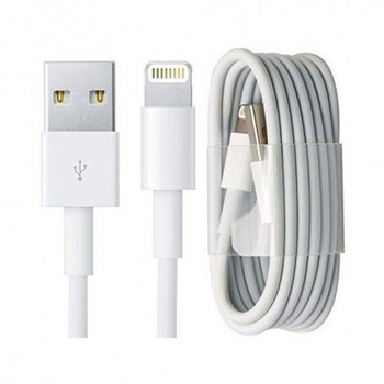 Official Apple Lightning to USB Type A Data Sync Charging Cable (1 m) MD818 - White - Frustration Free Packaging