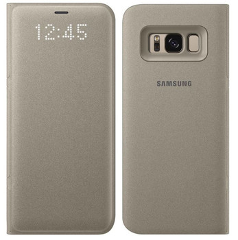 Genuine Official Samsung LED View Case Flip Cover for Samsung Galaxy S8 - Gold (EF-NG950PFEGWW)