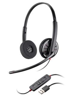 Plantronics Blackwire C320 USB On Ear Headset  - Bulk, Frustration Free Packaging