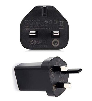 Official Genuine Xiaomi MDY-03-AA USB Charger for Xiaomi Mi A2 / Mi 8 / Mi 8 Pro / Redmi 5 / Redmi 6 3 Pin UK Mains Plug Power Adapter Charger - Black (No Cable Included)