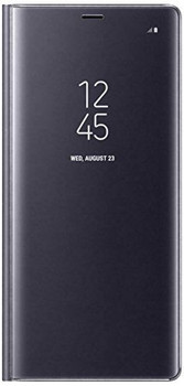 Genuine Official Samsung Clear View Standing Flip Cover Case for Samsung Galaxy Note 8 - Orchid Grey (EF-ZN950CVEGWW)